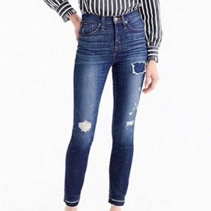 """J Crew """"lookout high rise skinny"""" distressed jean"""